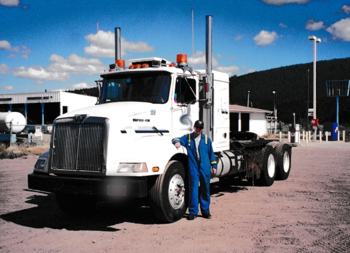 Poulsen in the early 2000s when he hauled supplies and equipment to and from Fort McMurray.